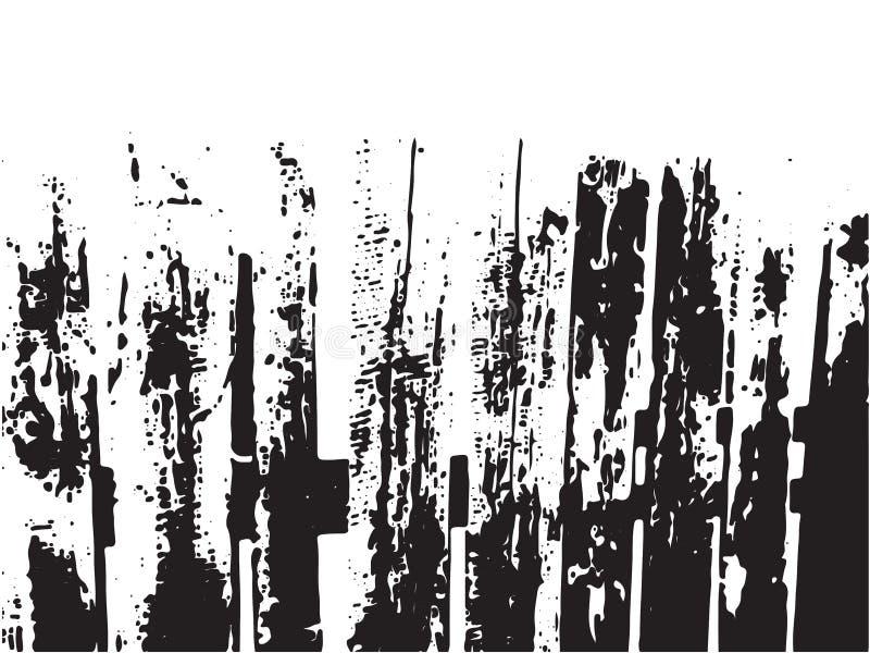 Textura de tablones de madera viejos, textura abstracta de la desolación, cerca rústica del vintage de madera del grunge ilustración del vector