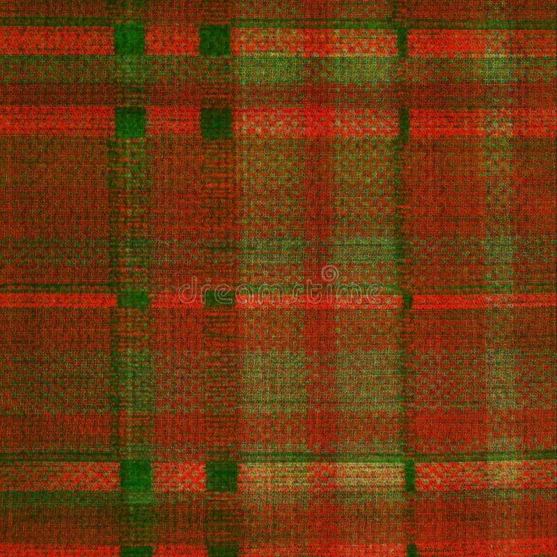 Textura de tecido de cor laranja vermelha e verde bruto ilustração stock