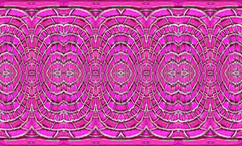 Textura de tejas decorativas con un modelo concéntrico stock de ilustración