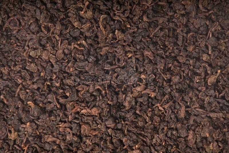 Textura de Tieguanyin asado, té de Oolong fotografía de archivo