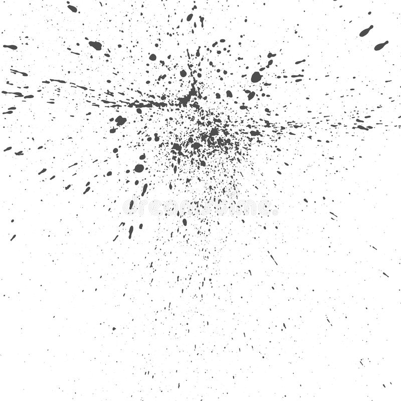 Textura de tinta preta do grunge das gotas do vetor ilustração do vetor