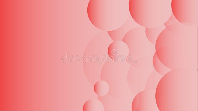 Textura de transparente original volumétrico abstrato cor-de-rosa transparente circularmente e formas diferentes do oval de brilh ilustração royalty free