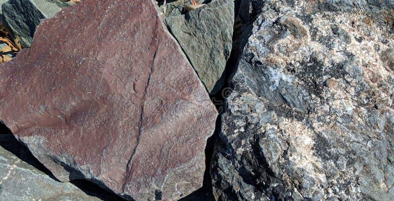 Textura de tres tipos de piedras stock de ilustración