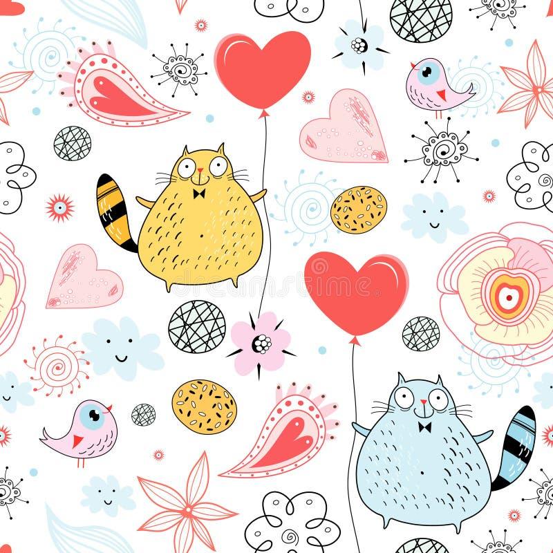 A textura de um amante do gato ilustração royalty free
