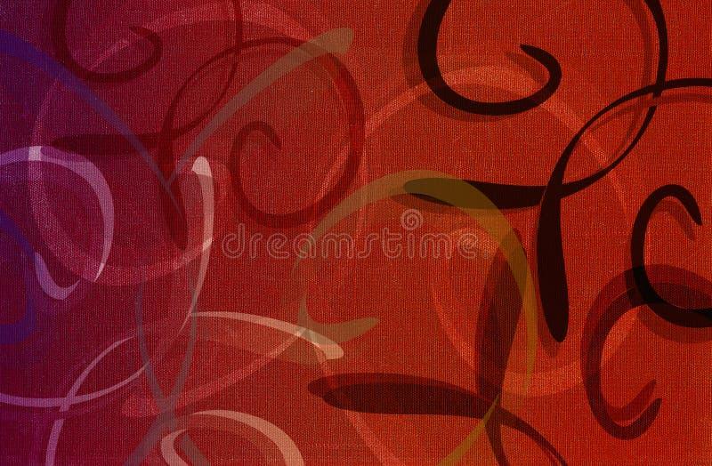 Textura de um teste padrão dos whis da tela do vermelho fotografia de stock royalty free