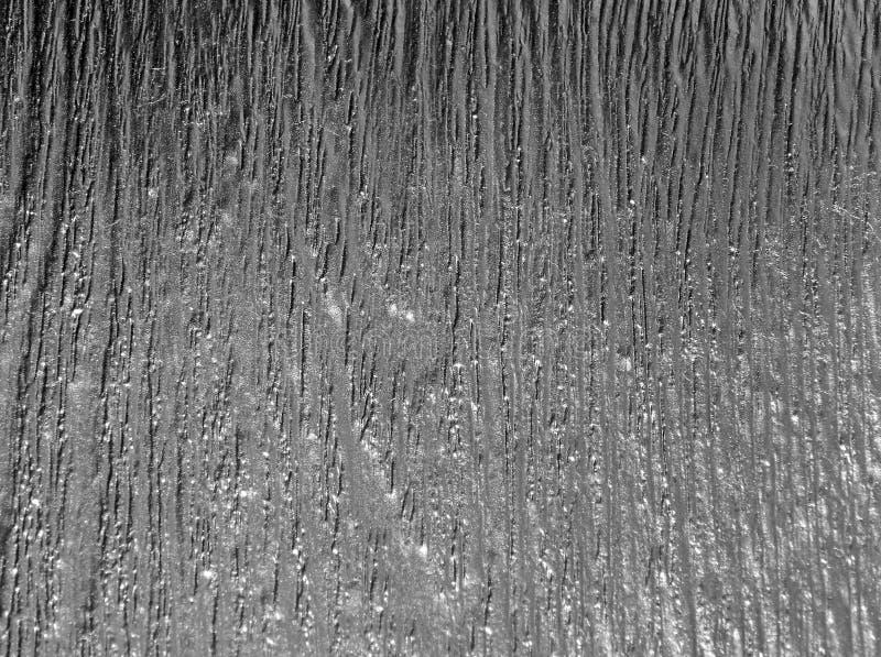 A textura de uma árvore coberta com a prata fotografia de stock