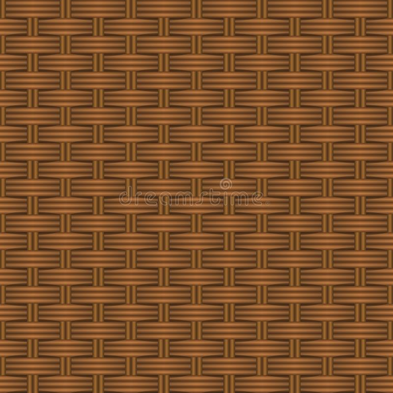 Textura de uma cesta feita da vinha Teste padrão do fundo do vetor ilustração stock