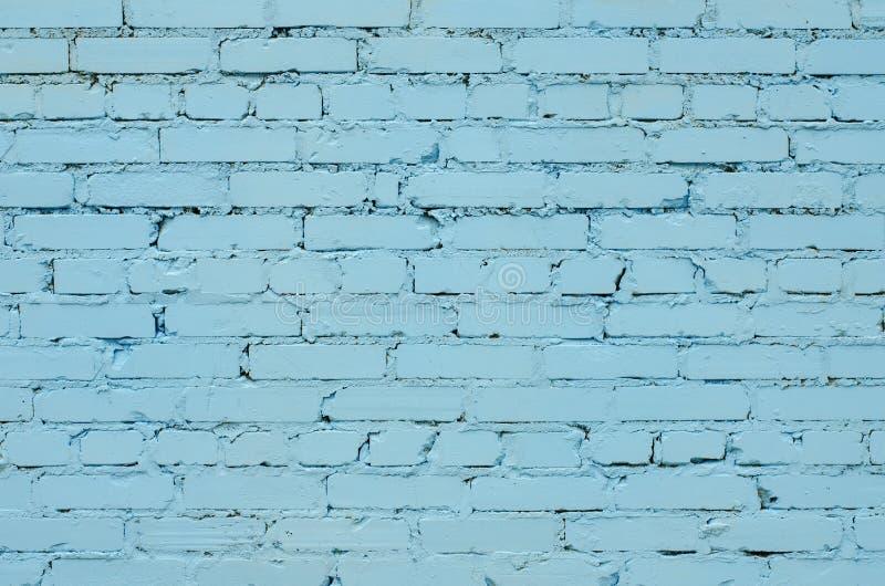 Textura de uma luz velha - parede de tijolo azul imagem de stock royalty free