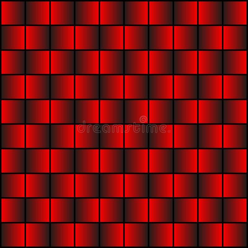 Textura de uma parede do tijolo vermelho e do metal ilustração royalty free