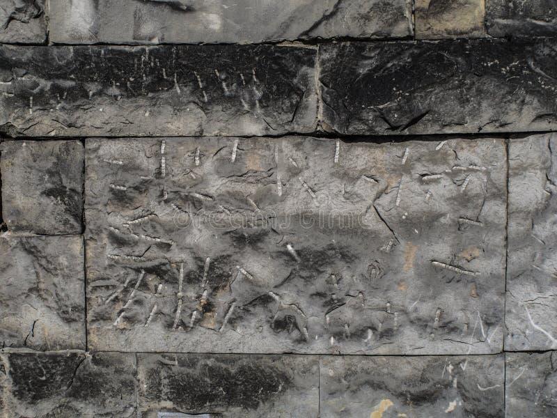 textura de uma parede feita do arenito fotos de stock