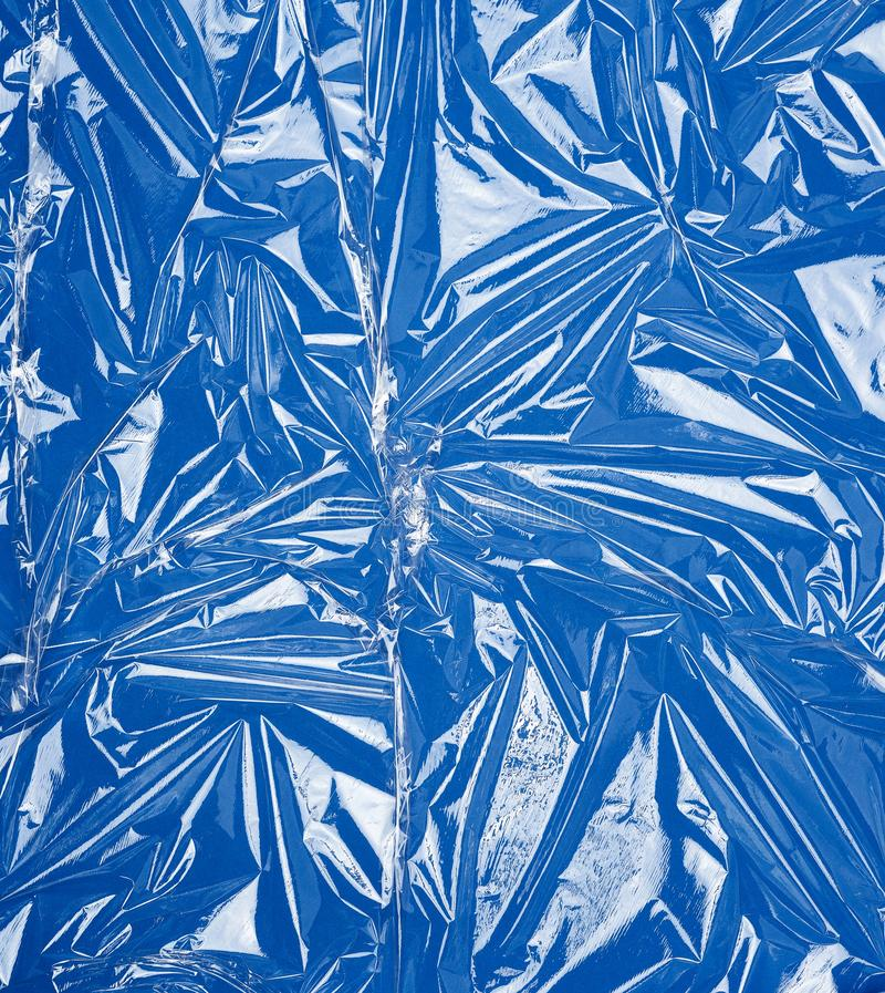 Textura de uma película plástica transparente de estiramento para produtos de embalagem fotos de stock royalty free