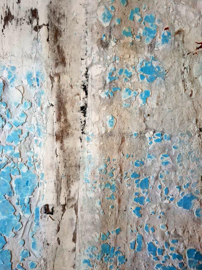 Textura de uma porta do azul do vintage imagens de stock