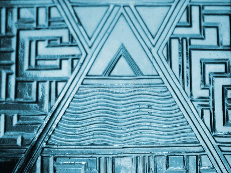 Textura de vidro azul fotografia de stock royalty free