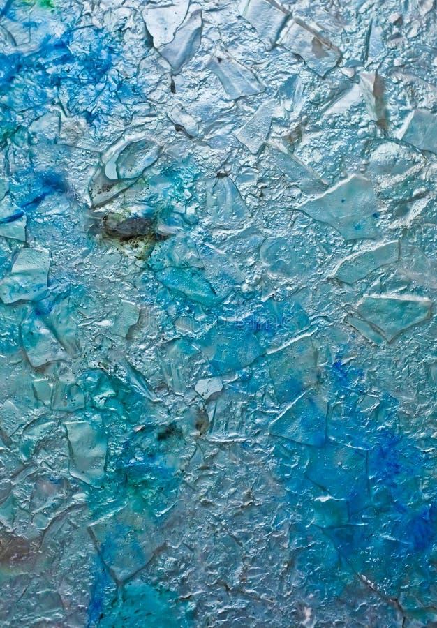 Textura de vidro do fundo do gelo azul fotos de stock