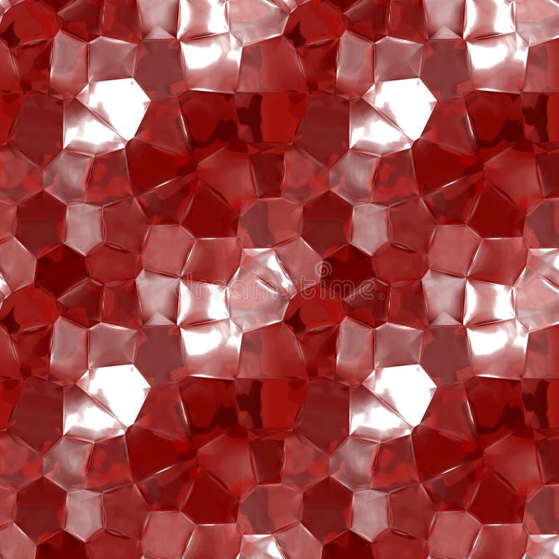 Textura de vidro vermelha abstrata ilustração royalty free