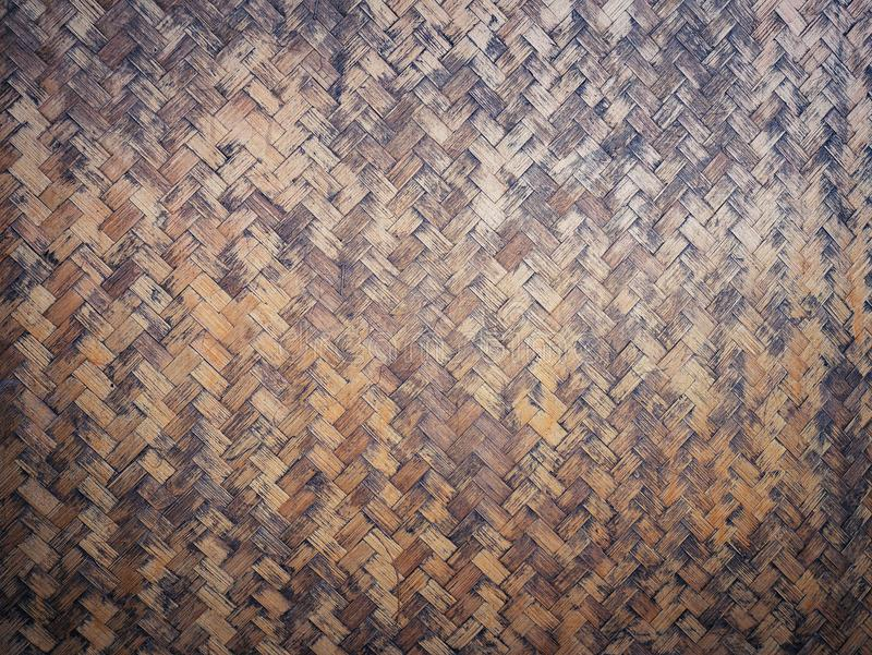 Textura de vime de bambu da parede ou da cesta da casa da natureza do formulário da textura do weave imagens de stock royalty free