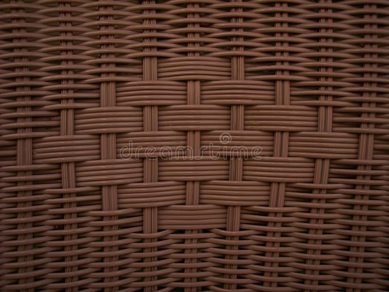 Textura de vime de Brown do Weave fotografia de stock
