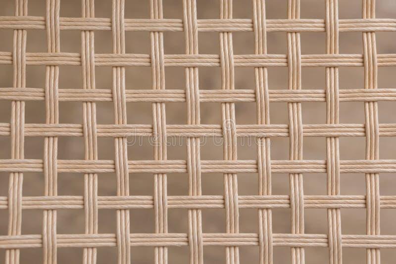 Textura de vime tecida bambu do quadrado do teste padrão fotografia de stock