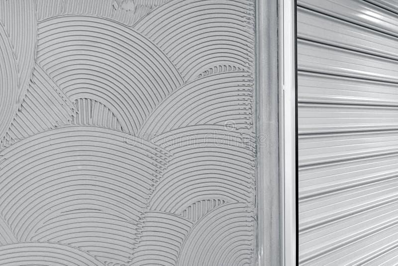 Textura decorativa do revestimento da parede do emplastro imagens de stock