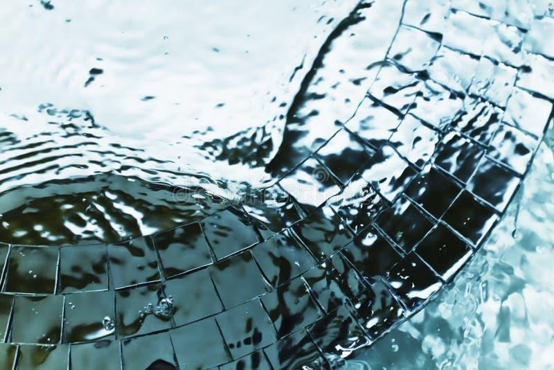 Textura del agua del metal con las ondulaciones fotos de archivo libres de regalías
