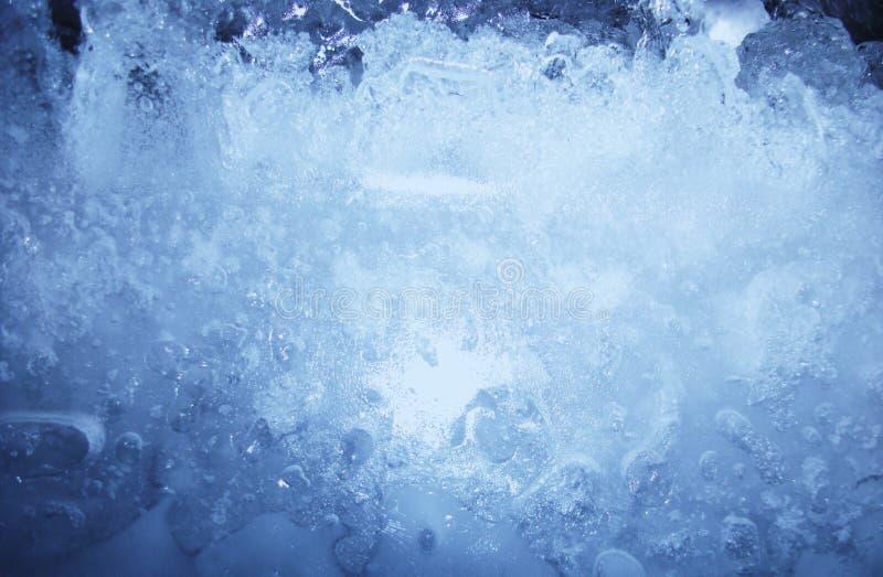 Textura del azul de hielo foto de archivo