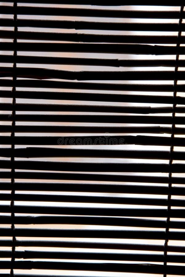 Textura del bambú de la cortina fotografía de archivo libre de regalías