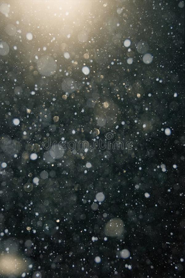 Textura del bokeh de la nieve imágenes de archivo libres de regalías
