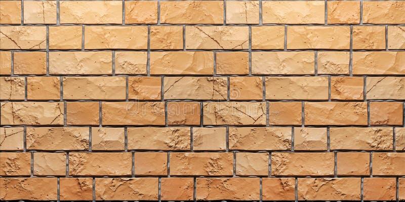 Textura del brickwall anaranjado del grunge 3d rinden ilustración del vector