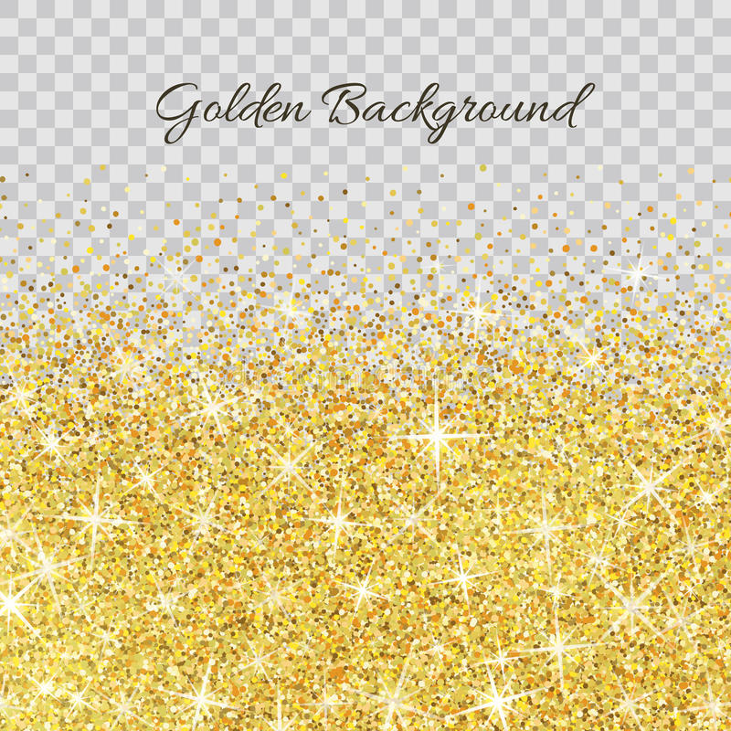 Textura del brillo del oro con las chispas ilustración del vector