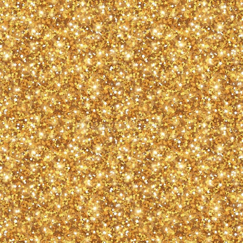 Textura del brillo del oro, modelo inconsútil de las lentejuelas stock de ilustración