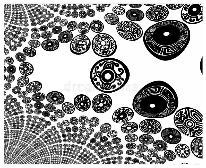 Textura del BW ilustración del vector