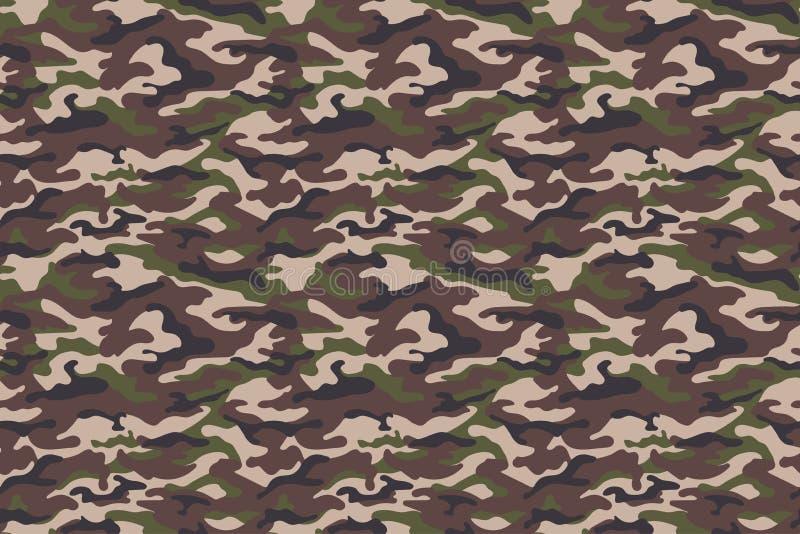 Textura del camuflaje del verde de Brown Vector ilustración del vector
