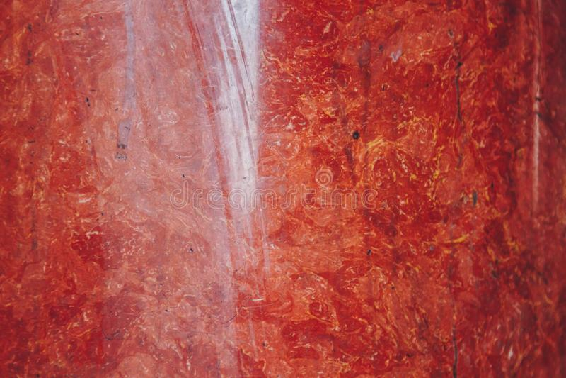 Textura del cierre de piedra de m?rmol rojo y blanco para arriba estructura acodada primer de la roca fotos de archivo