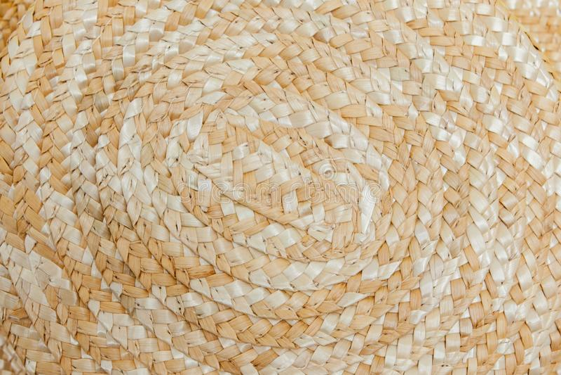 Textura del cierre pintado del sombrero de paja para arriba, sombrero de paja, cierre encima del detalle, pintura abstracta del g foto de archivo