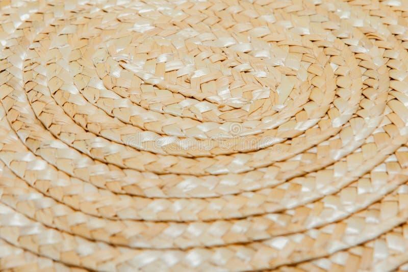 Textura del cierre pintado del sombrero de paja para arriba, sombrero de paja, cierre encima del detalle, pintura abstracta del g fotos de archivo