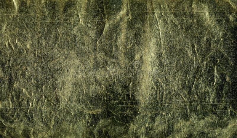 Textura del cuero decorativo Superficie de oro, marrón oscura con los rastros de envejecimiento, uso, abolladuras, rasguños Model libre illustration