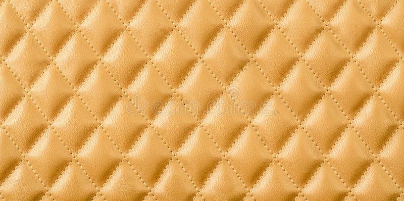 Textura del cuero del oro fotos de archivo libres de regalías