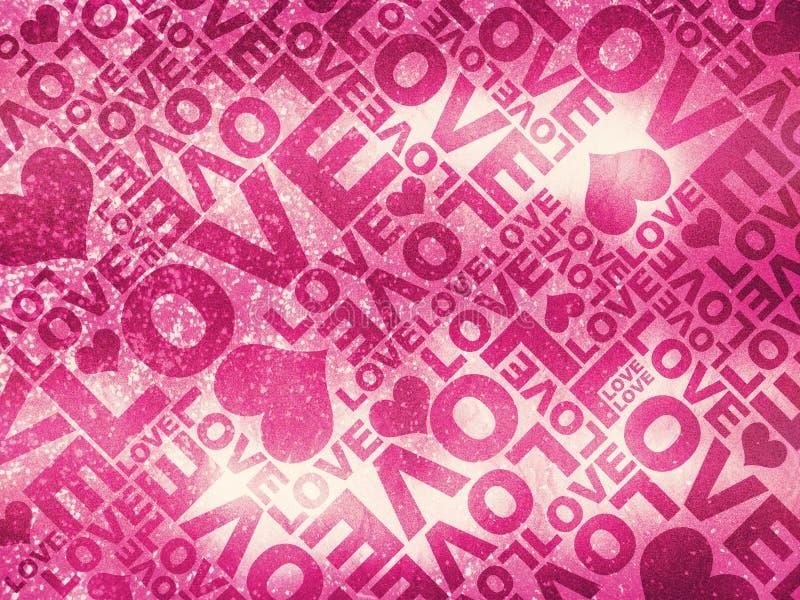 Textura del día de tarjeta del día de San Valentín del brillo del amor stock de ilustración