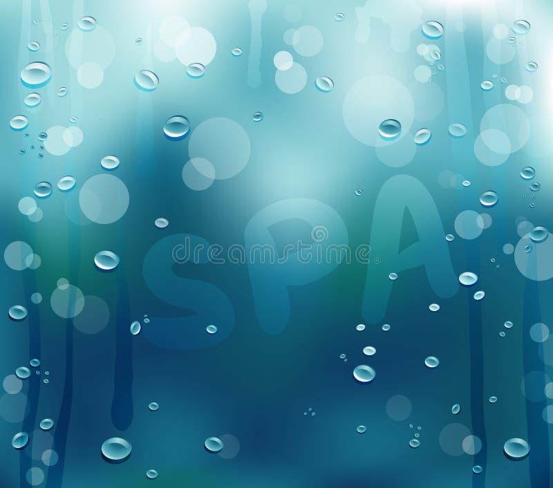 Textura del descenso del agua stock de ilustración