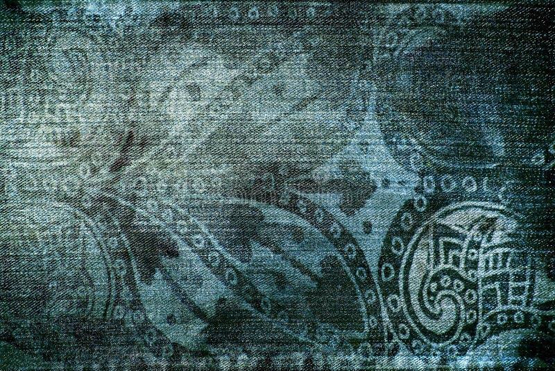 Textura del dril de algodón de la vendimia ilustración del vector