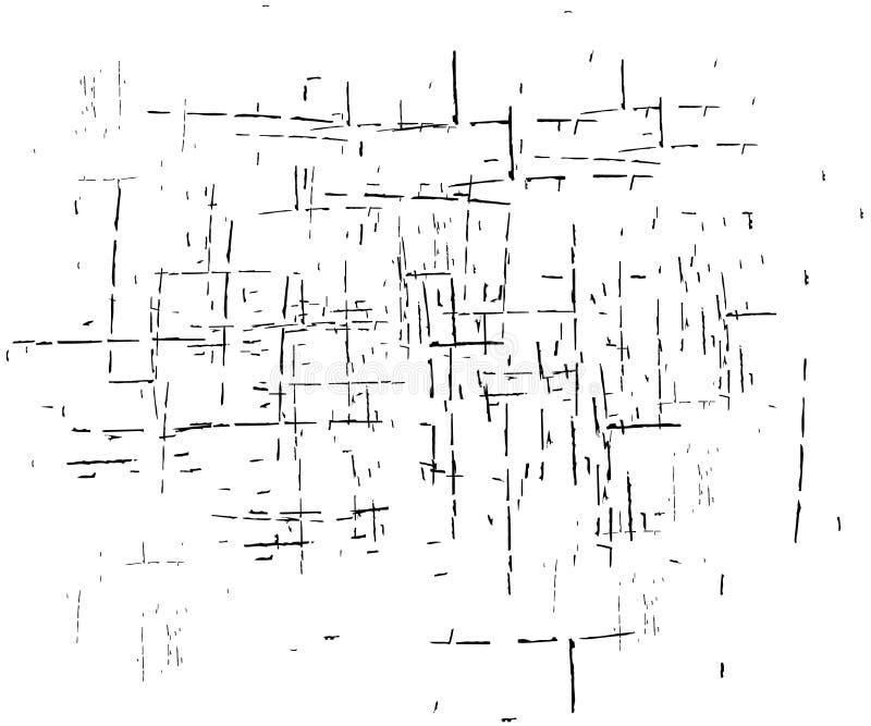 Textura del efecto del bosquejo del Grunge ilustración del vector