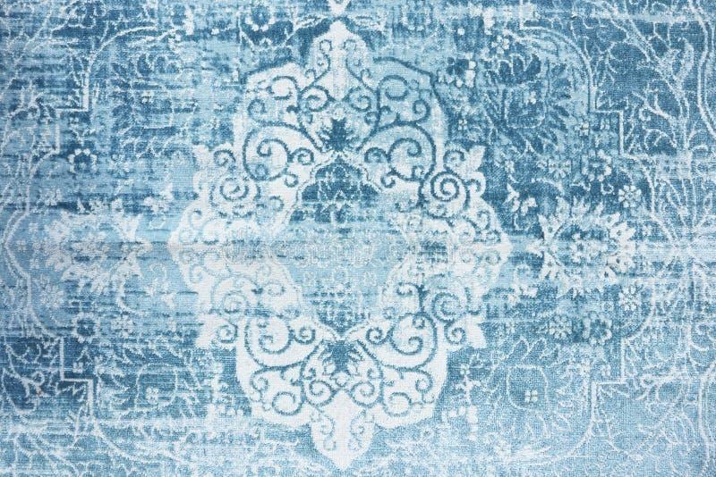 Textura del este azul de la manta del vintage imágenes de archivo libres de regalías