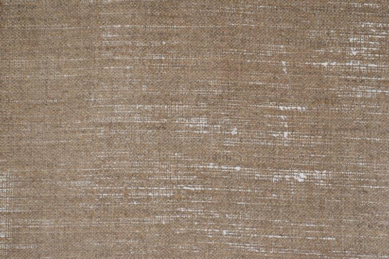 Textura del fondo de la lona de lino del artista fotografía de archivo