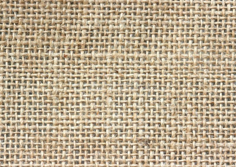 Textura del fondo de la materia textil del yute fotos de archivo