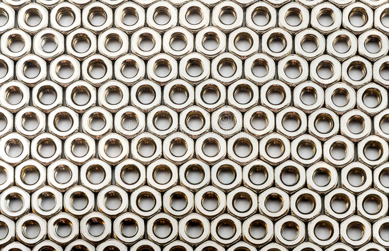 Textura del fondo de la nuez del acero inoxidable foto de archivo libre de regalías