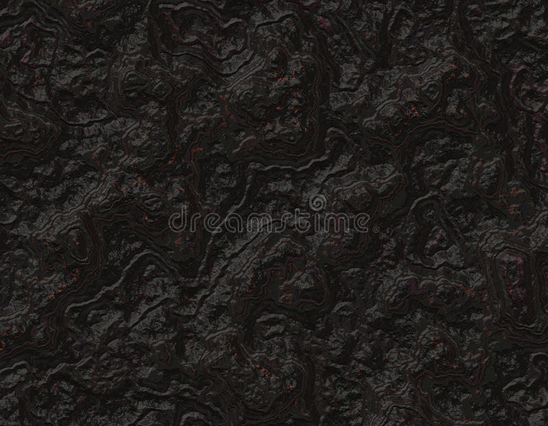 Textura del fondo de la roca del negro de echada ilustración del vector