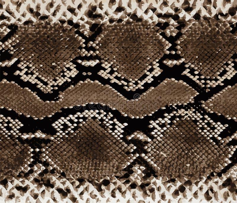 Textura del fondo de Snakeskin Impresión elegante Fondo abstracto de moda Serpiente de la textura ilustración del vector