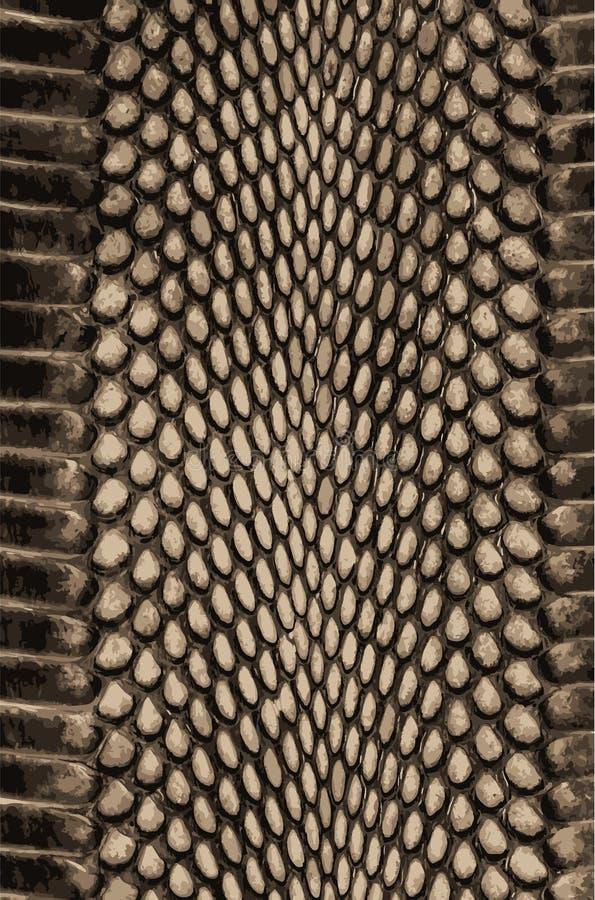 Textura del fondo de Snakeskin Impresión elegante Fondo abstracto de moda Serpiente de la textura stock de ilustración
