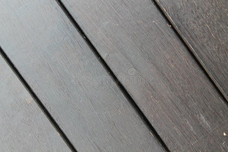 Textura del fondo del decking de madera con los tablones paralelos con huecos imágenes de archivo libres de regalías