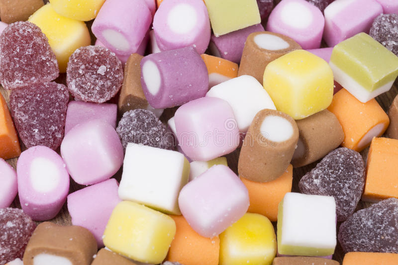 Textura del fondo del caramelo cauchutoso colorido fotografía de archivo